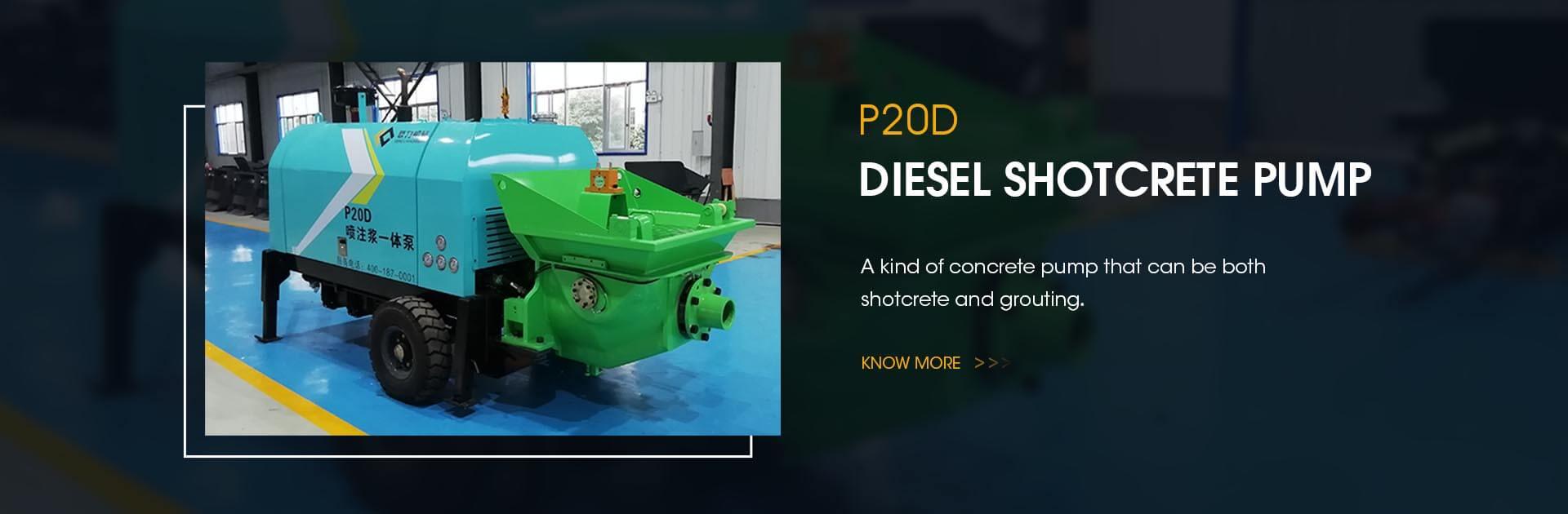 P20D Diesel shotcrete pump
