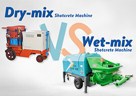 The difference and advantages of dry shotcrete machine a
